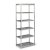 "Home Styles Bold Stainless Steel Collection 6-Tier Bath Shelf in Brushed Stainless Steel, 24"" W x 14"" D x 60"" H"