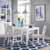 """Home Styles Linear Rectangular 5 Piece Dining Set, Dining Table & 4 Chairs, White, Table: 48""""W x 36""""D x 30""""H, Chair: 18""""W x 23-3/4""""D x 35""""H"""