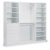 """Home Styles Linear Collection Storage 3-Piece Wall Unit in White, 86"""" W x 20"""" D x 82-1/2"""" H"""
