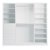 Storage 3-Piece Wall Unit Front View