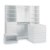 """Home Styles Linear Collection White Storage 5-Piece Unit, Includes 3-Piece Wall Storage Unit, Bench and Storage Island: 30"""" W x 30"""" D x 36-1/4"""" H"""