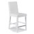 "Home Styles Linear Collection Counter Stool in White, 18"" W x 21-3/4"" D x 40-1/2"" H"