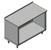 "John Boos 16-Gauge Commerical Modular Base Work Table with 1-1/2"" Riser"