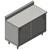 "John Boos 16-Gauge Commerical Modular Base Work Table with 5"" Riser"