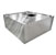 John Boos Type II Commercial Exhaust Vent Island Hood in Multiple Sizes, 18-Gauge Stainless Steel with Vapor Proof Light