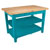 "John Boos Classic Country Worktable, 48""W x 36""D x 36""H, 1-3/4"" Thick Top, 2 shelf, Caribbean Blue"