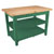 "John Boos Classic Country Worktable, 48""W x 36""D x 36""H, 1-3/4"" Thick Top, 2 shelf, Clover Green"
