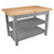 "John Boos Classic Country Worktable, 48"" or 60""W x 36""D x 36""H, 1-3/4""Thick Top, 2 shelves, Slate Gray"