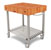 John Boos American Cherry Butcher Block Top Kitchen Cart Angle View