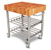 John Boos American Cherry Butcher Top Wine Cart Angle View