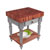 "John Boos Rustica Kitchen Island with 4"" Thick Cherry End Grain Top, Useful Gray, 30""W, 1 Drawer & Shelf"