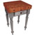 "John Boos Rustica Kitchen Island with 4"" Thick Cherry End Grain Top, Useful Gray, 30""W, 1 Drawer"