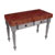"John Boos Rustica Kitchen Island with 4"" Thick Cherry End Grain Top, Useful Gray, 48""W, 2 Drawers"