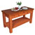 "John Boos Grazzi Kitchen Island with Spicy Latte Base, 60"" W x 28"" D x 35"" H, Cherry End Grain Top"