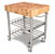 John Boos Northern Maple Butcher Top Wine Cart Angle View