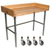 "John Boos 1-3/4"" Thick Maple Top Work Table w/ 4"" Backsplash & Stainless Steel Base, Oil Finish"