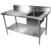 "John Boos Commercial Economy Prep Worktable Sink Bowl Right in Multiple Sizes with 5"" Backsplash, 18-Gauge Stainless Steel, Galvanized Legs and Shelf"