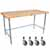 "John Boos 1¾"" Blended Maple Top Worktables w/ Galvanized Steel Base 