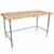 "1-3/4"" Thick Maple Top Kitchen Islands with Galvanized Bases by John Boos"
