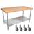 "John Boos 1�"" Maple Top Worktables w/ Galvanized Steel Base & Shelf 