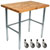 "John Boos 1�"" Blended Maple Top Worktables w/ Galvanized Base & Bracing 
