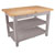 "36"" D Classic Country Work Table Kitchen Islands with 2 Shelves by John Boos"
