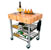 John Boos Northern Maple Butcher Top Wine Cart Illustration