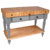 48'' Useful Gray Stain Work Table with Shelf