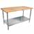 """1-3/4"""" Thick Maple Top Kitchen Islands with Stainless Steel Base and Shelf by John Boos"""