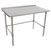 """John Boos ST4R1.5-SB Series 14-Gauge Stainless Steel Top Work Table in Multiple Sizes with 1-1/2"""" Riser, Adjustable Stainless Legs & Bracing, Knocked Down Options"""