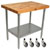 "John Boos 2�"" Blended Maple Top Worktables w/ Stainless Steel Base & Shelf 