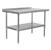 Work Table w/ Riser, Stainless Steel Legs & Shelf