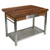 "John Boos Walnut Cucina Grande Kitchen Work Table with 8"" Drop Leaf"
