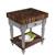 "John Boos Rustica Kitchen Island with 4"" Thick Walnut End Grain Top, Useful Gray, 30""W, 1 Drawer & Shelf"