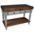 "John Boos Rustica Kitchen Island with 4"" Thick Walnut End Grain Top, Useful Gray, 48""W, 2 Drawers & Shelf"