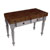 """John Boos Rustica Kitchen Island with 4"""" Thick Walnut End Grain Top, Useful Gray, 48""""W, 2 Drawers"""
