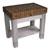 John Boos Kitchen Work Table Homestead Block with Walnut Top