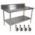 "John Boos Cucina Tavalo Stainless Steel Work Table with 6"" Backsplash"