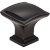 "Jeffrey Alexander 1-1/4"" Width Annadale Square Pillow Top Cabinet Knob in Matte Black"
