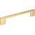 "Jeffrey Alexander 5-7/8"" Width Sutton Cabinet Pull in Brushed Gold, Center to Center: 128mm (5"")"