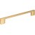 "Jeffrey Alexander 7-1/2"" Width Sutton Cabinet Pull in Brushed Gold, Center to Center: 160mm (6-5/16"")"