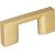 "Jeffrey Alexander 2-1/4"" Width Sutton Cabinet Pull in Brushed Gold, Center to Center: 32mm (1-1/4"")"
