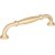 """Jeffrey Alexander 5-13/16"""" Width Tiffany Cabinet Pull in Brushed Gold, Center to Center: 128mm (5"""")"""