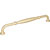 """Jeffrey Alexander Tiffany Collection 13"""" W Decorative Cabinet Pull, 12"""" Center-to-Center in Brushed Gold"""