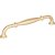"""Jeffrey Alexander 7-1/16"""" Width Tiffany Cabinet Pull in Brushed Gold, Center to Center: 160mm (6-5/16"""")"""