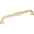 """Jeffrey Alexander Tiffany Collection 8-3/8"""" W Decorative Cabinet Pull, 192mm (7-9/16"""") Center-to-Center in Brushed Gold"""