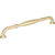 """Jeffrey Alexander Tiffany Collection 9-7/8"""" W Decorative Cabinet Pull, 224mm (8-13/16"""") Center-to-Center in Brushed Gold"""