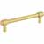 Jeffrey Alexander Hayworth Center-to-Center Cabinet Bar Pull in Brushed Gold, 5'' W