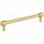 Jeffrey Alexander Hayworth Center-to-Center Cabinet Bar Pull in Brushed Gold, 6-1/4'' W