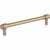 Jeffrey Alexander Hayworth Center-to-Center Cabinet Bar Pull in Satin Bronze, 6-1/4'' W